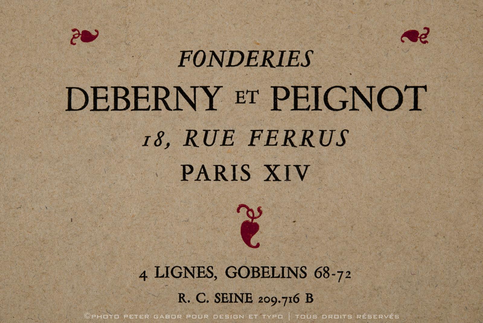 Deberny & Peignot Type foundry,1923 | Art Deco