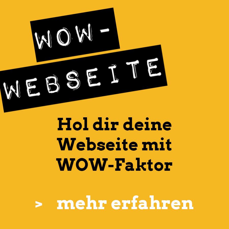 Hol dir deine Webseite mit WOW-Faktor