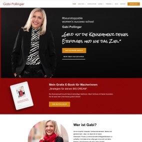 Website für Gabi Pollinger