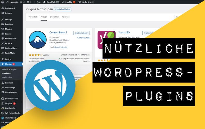 Nützliche WordPress-Plugins für deine Website