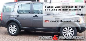 4 wheel laser alignment for your 4 x 4
