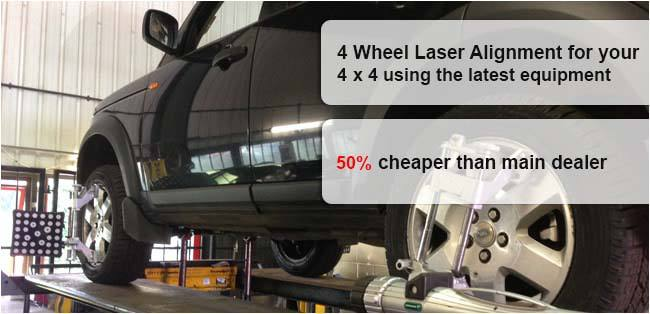 50% cheaper 4 Wheel Laser Alignment