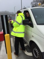Highways Agency and WheelRight trial drive-on tyre pressure sensor at Keele Services