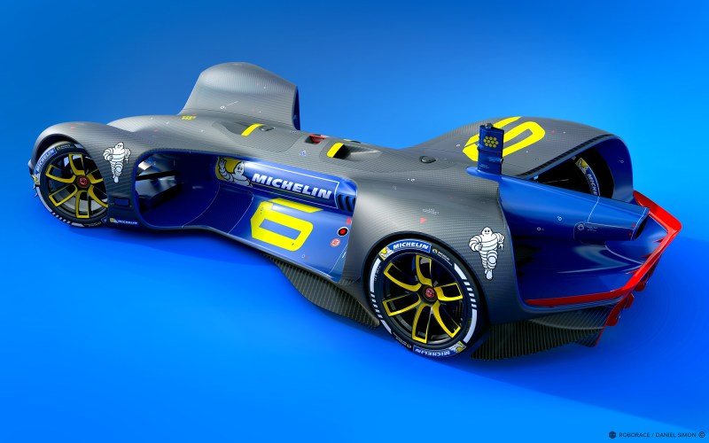 Michelin is the third global partner to be officially announced by Roborace (Image by Chief Design Officer Daniel Simon / Roborace Ltd.)