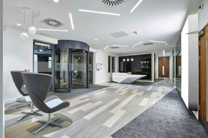 The new GDHQ's reception area
