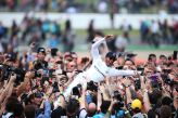 Post-victory crowdsurfing