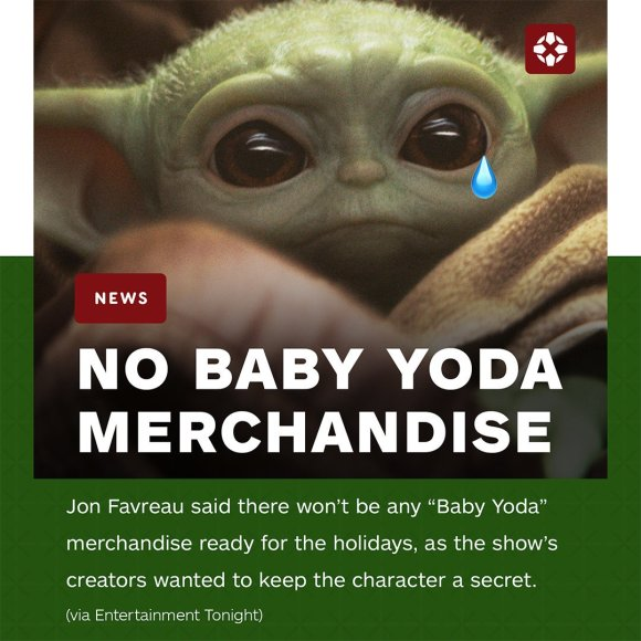 No Baby Yoda Merch for Christmas
