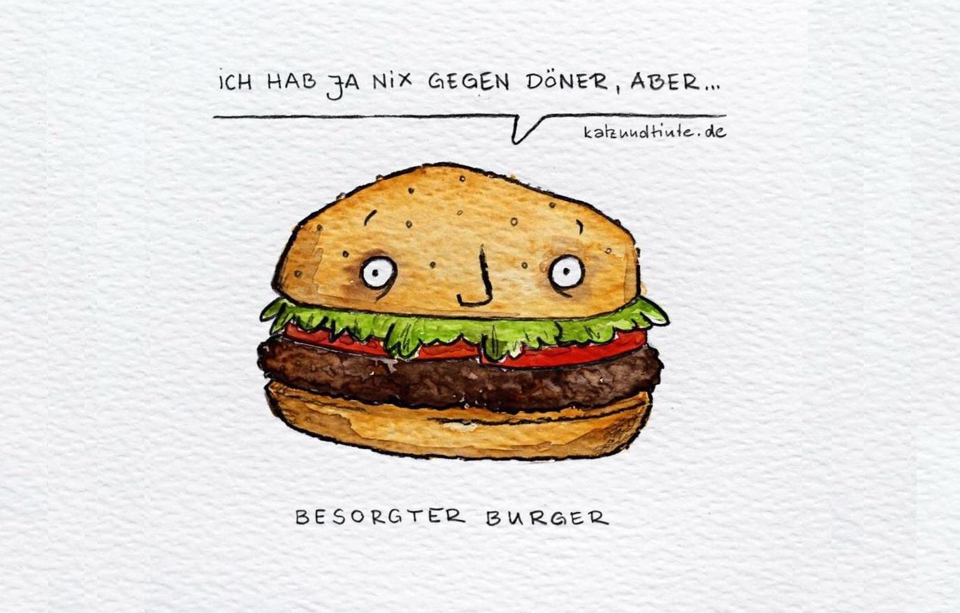 Besorgte Burger, kranke Montage und glutenintolerante Vögel
