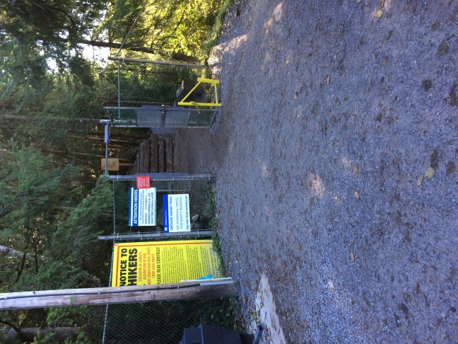 Grouse Grind entrance, its strange to see a hike with a fence at the start