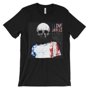 skull print t shirts - Tzeez