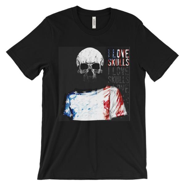Skull print t shirt online USA