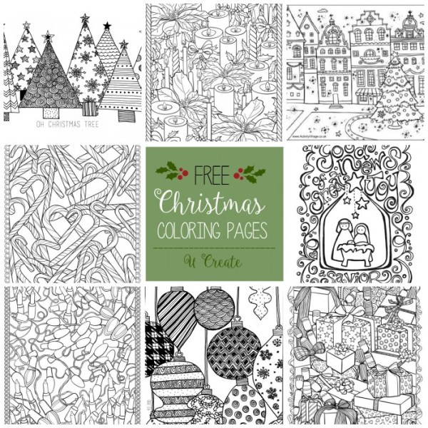 free printable holiday coloring pages # 15