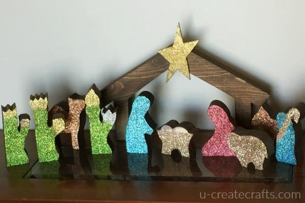 DIY Wood Nativity Set 2 different looks