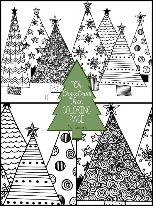 coloring pages of christmas trees # 19