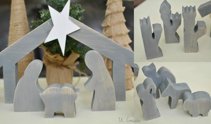 Wooden navity set by U Create