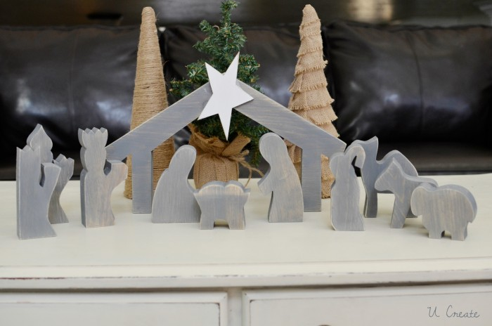 Wooden Nativity Tutorial at U Create