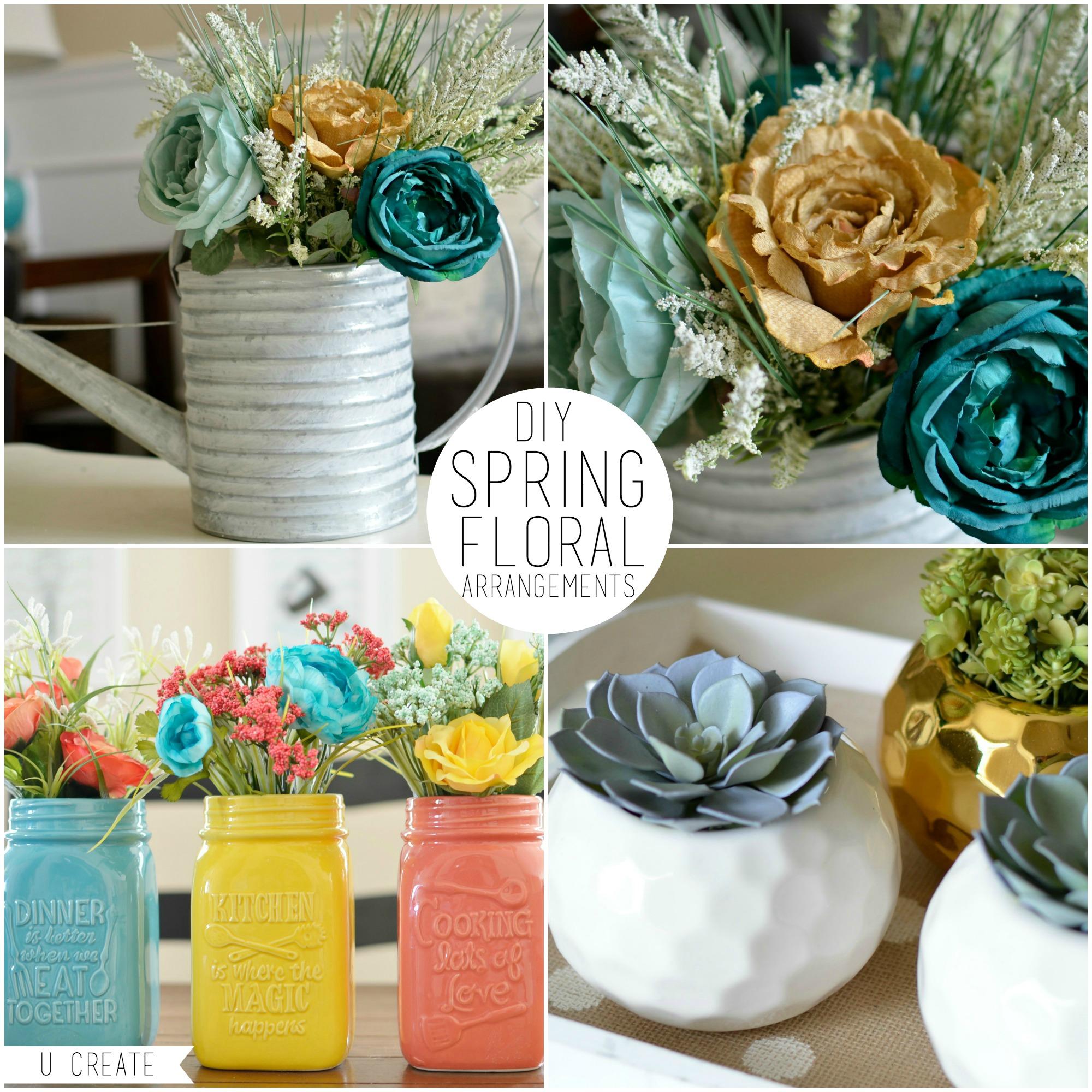 DIY Spring Floral Arrangements U Create