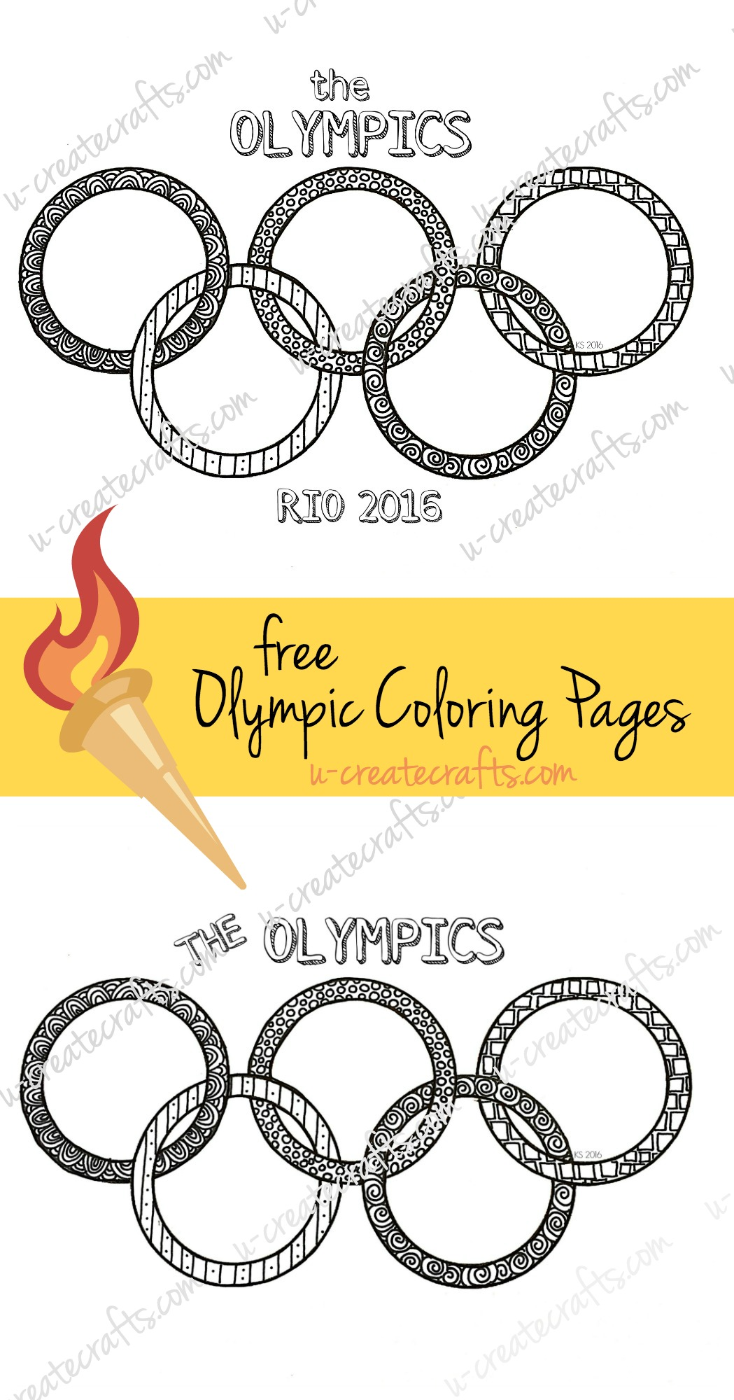 Olympics Coloring Page
