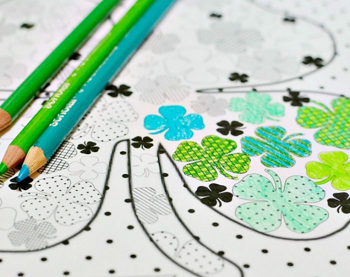 Free Shamrock Coloring Page for St Patrick's Day