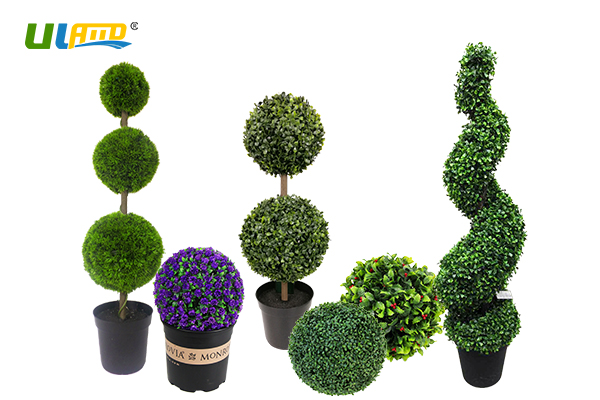 ULAND artificial topiary balls & trees