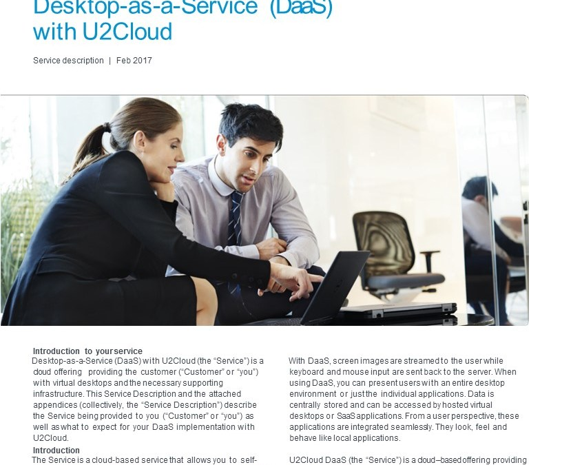 SERVICE DESCRIPTION – DESKTOP-AS-A-SERVICE WITH U2CLOUD