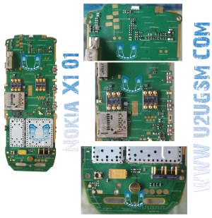 Nokia X101 Full PCB Diagram Mother Board Layout