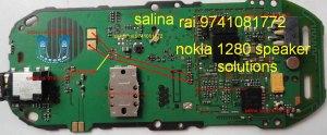 nokia 1280 ringer jumper solution  Mobile Repairing Diagrams