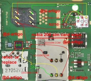 nokia 206 Insert Sim IC Solution Jumper Problem Ways