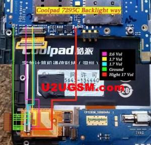 Coolpad 7295C Display Light Solution Jumper Problem Ways