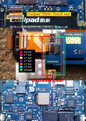 Coolpad 7295C touch screen not working problem solution jumpers