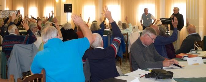 Members voting