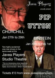 Javea Players present TWO GREAT MEN WHO SHOOK THE WORLD- Einstein @ Javea Players Studio
