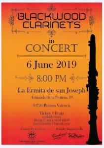 Blackwood Clarinets In Concert @ La Ermita de San Joseph