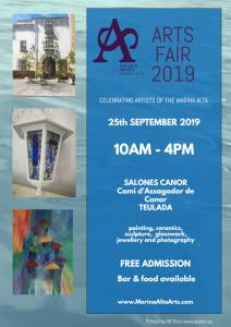 25 September - The Arts Society Marina Alta: 3rd Arts Fair @ Salones acanor
