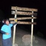 Bob up Kilimanjaro