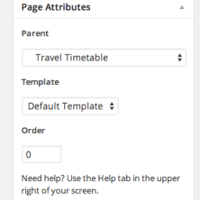 Go to Page Attributes section