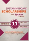 Newman Sustaining Board Scholarship: 2x $5000 Awards.  Application Deadline is March 11; Apply Soon at http://uacatholic.org/scholarship