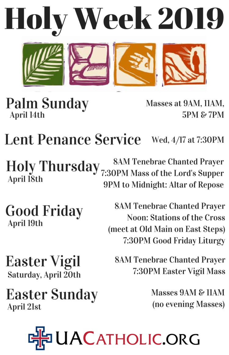 St  Thomas More Catholic Newman Center | Holy Week 2019