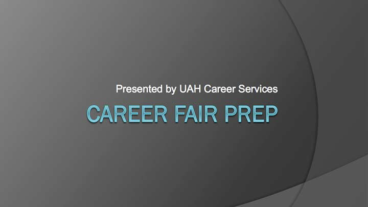 picture of career fair prep banner