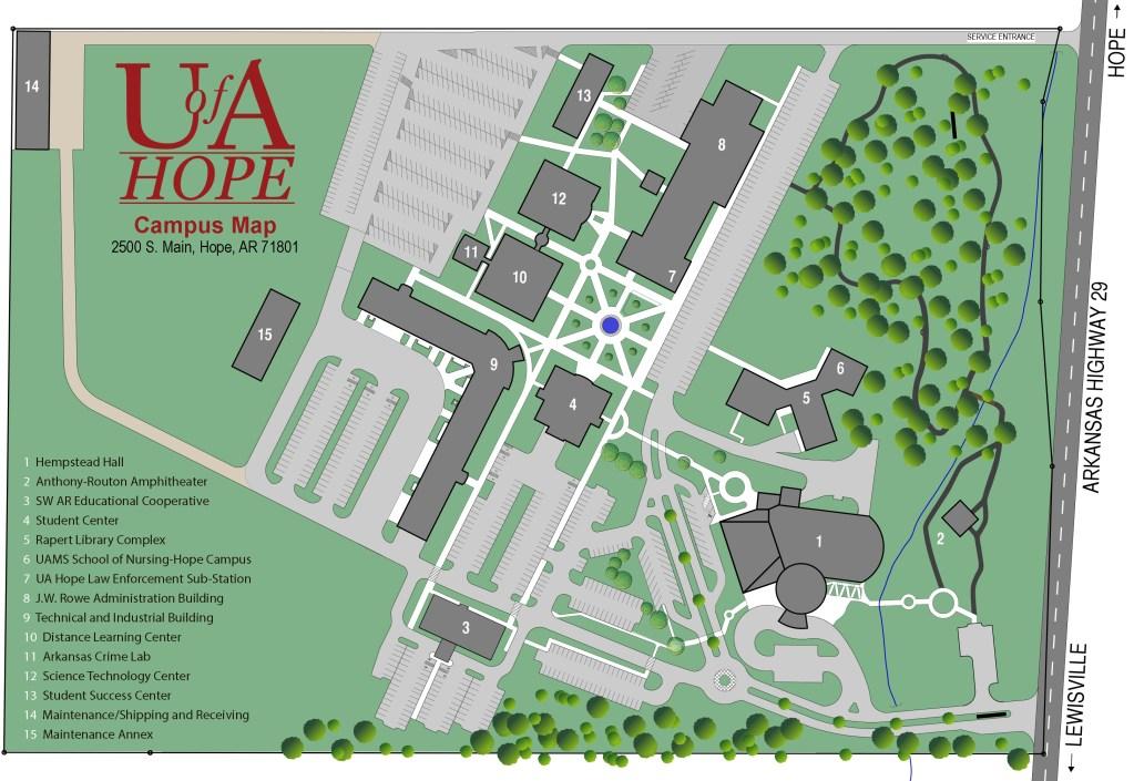 University Of Arkansas Campus Map Campus Map