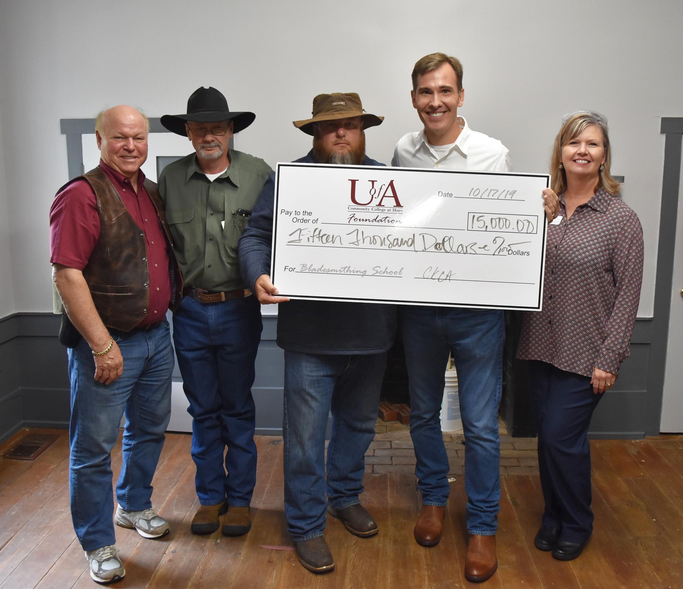 University of Arkansas Hope-Texarkana James Black School of Bladesmithing Donation