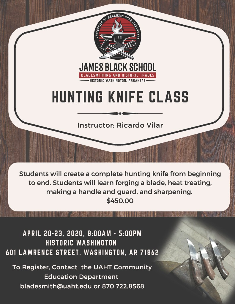 Hunting Knife Class Flyer
