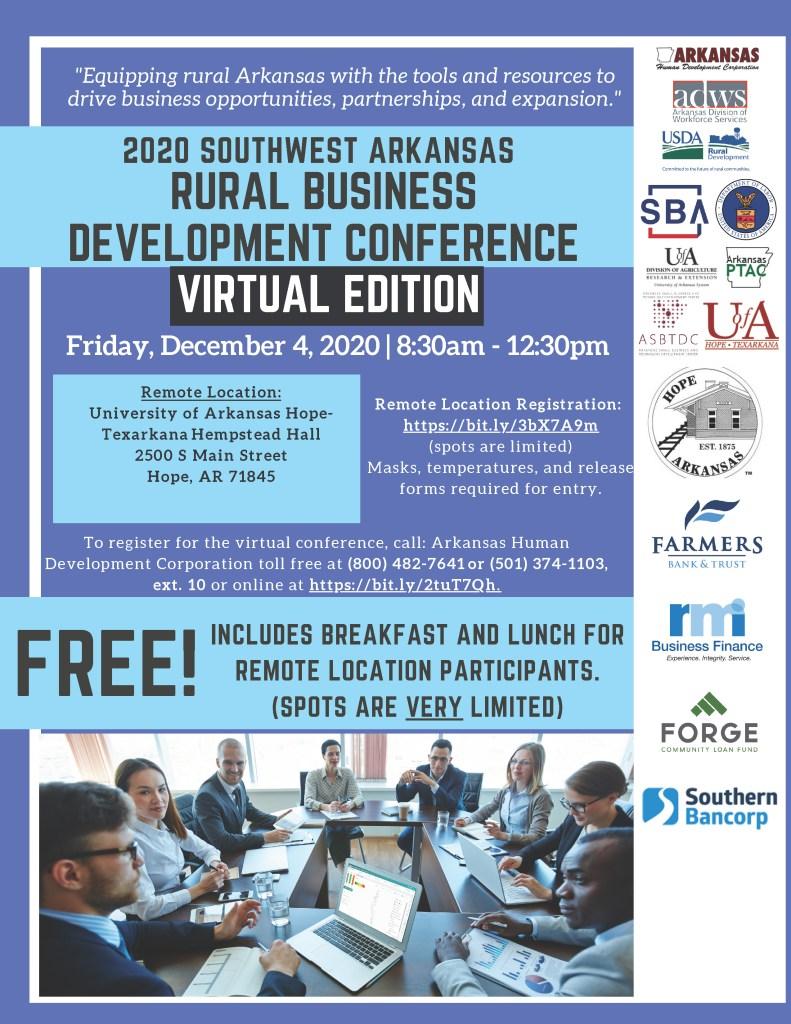 Southwest Arkansas Rural Business Development Conference