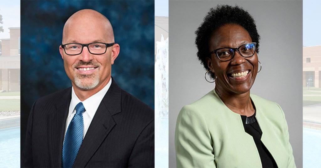 Pictured: Dr. Jeff Jochems (left) and Dr. Christine J. Holt (right)
