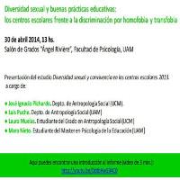 Cartel_Charla_Diversidad sexual y buenas practicas educativas