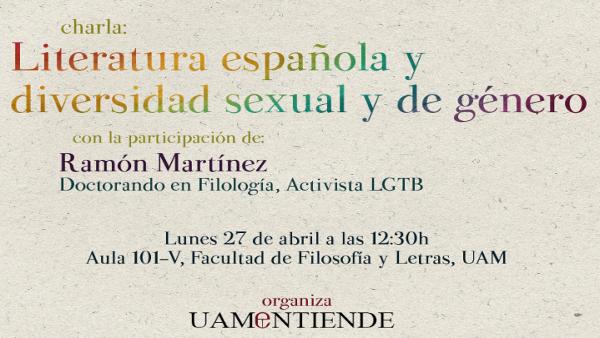 Cartel_Charla_Literatura española y diversidad sexual y de Género