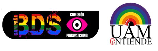 Logos: BDS Comisión Pinkwatching y UAMentiende
