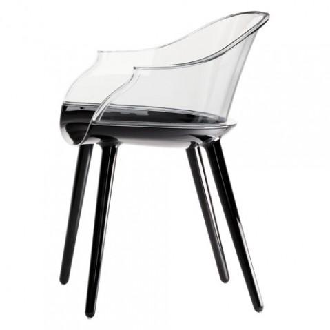 fauteuil cyborg noir transparent de magis