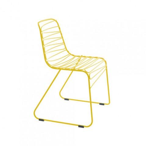 chaise flux jaune de magis