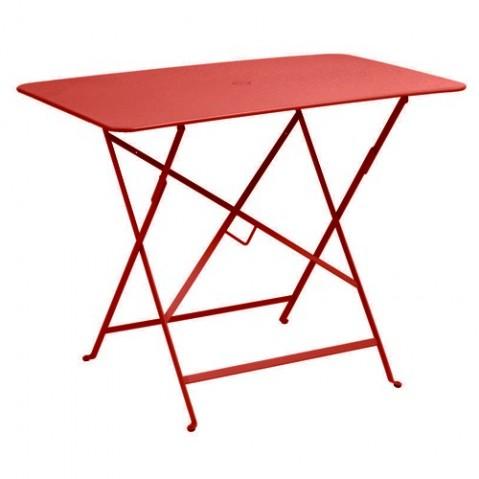 table pliante bistro 97 x 57cm coquelicot de fermob